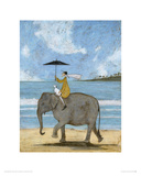 On The Edge Of The Sand Giclee Print by Sam Toft