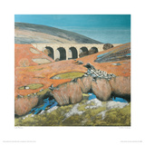 Yorkshire Landscape With Viaduct Giclee Print by Lydia Bauman