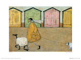Along The Prom Giclee Print by Sam Toft