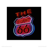The Route 66 Neon Sign Giclee Print by Gary Yeowell