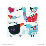 Feathered Friends Giclee Print by Anne Davies