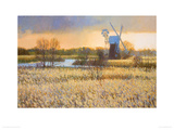 Passing Storm over Turf Fen Mill Giclee Print by Nicholas Verrall