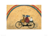 Somewhere Under a Rainbow Giclee Print by Sam Toft