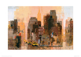 New Yorker & Cabs Giclee Print by Colin Ruffell