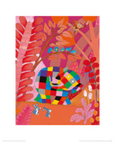 Elmer and Friends Giclee Print by David Mckee