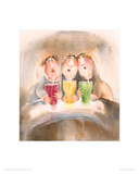 Girlfriends In Paradise Giclee Print by Erika Oller