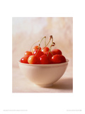 Bowl of Cherries Giclee Print by Michael Kohn