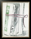 Roll of Bills, c.1962 Framed Giclee Print by Andy Warhol