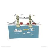 To the Tower - London II Reproduction procédé giclée par Susie Brooks