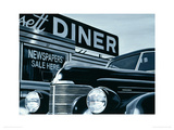 Massachusetts Diner Giclee Print by Alain Bertrand
