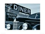 Massachusetts Diner Giclee Print by Alain Bertrand