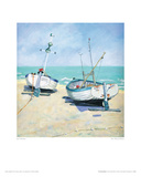 Two Moored Boats Giclee Print by Jane Hewlett