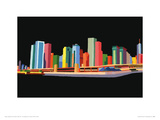 Chicago Waterfront Giclee Print by Andy Burgess