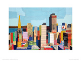 San Francisco Panorama Giclee Print by Andy Burgess