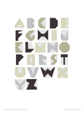 Alphabet Blocks Giclee Print by Trent Siddharta