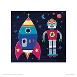 Rocket Giclee Print by Simon Hart