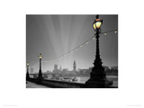 England, London: Evening over Houses of Parliament I Giclee Print by Edmund Nägele