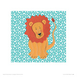 Fuzzy Lion Giclee Print by Catherine Colebrook