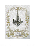 Parisienne Chandelier Giclee Print by Wendy Paula Patterson
