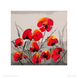 Multiple Poppies Giclee Print by Tibi Hegyesi