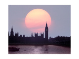 England, London: Evening over Houses of Parliament II Giclee Print by Edmund Nägele