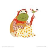 Big Ape, Little Bird Giclee Print by Sarah Battle