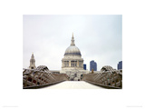 The Millennium Bridge and St Paul's Cathedral Giclee Print by Anon
