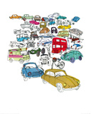 Vehicle Jam Giclee Print by Hannah Pontin