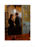 Conversation in the Lounge Bar Reproduction procédé giclée par Aldo Balding