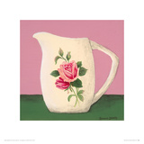 Little Pink Rose Giclee Print by Rozanne Doherty