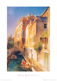 Bridge And Walkway, Venice Giclee Print by Cecil Rice