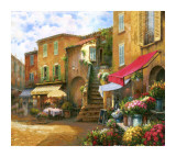 Flower Market Piazza Prints by Han Chang