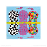 Elmer's Family Reflections Giclee Print by David Mckee