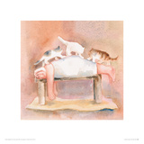Full Body Massage Giclee Print by Erika Oller