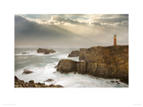 Stormy Lighthouse Giclee Print by John Hartl