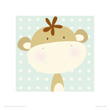 Mini Monkey Giclee Print by Nicola Evans