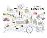Map of London Giclee Print by Alice Tait