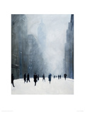 Blizzard - 5th Avenue Giclee Print by Jon Barker