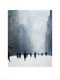 Blizzard - 5th Avenue Giclee Print by Jon Barker