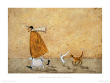 Ernest, Doris, Horace And Stripes Giclee Print by Sam Toft