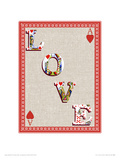 Love Is A Game Of Chance Giclee Print by Angie Crowe