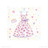 My Favourite Party Dress Giclee Print by Rachel Taylor