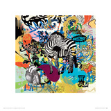 KALEIDOSCOPE (Zebra) Lámina giclée por Ben Allen