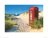 Beach Kiosk Giclee Print by Margaret Heath