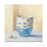 Bowls And Rose Giclee Print by Peter McGowan