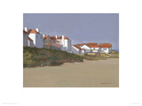 Beach Houses, Thorpness Giclee Print by John Sprakes