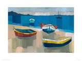 Devon Seascape Giclee Print by Sarah Batt