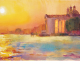 Sunset Over Zattere Giclee Print by Cecil Rice