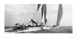 Les voiliers Astra et Shamrock V, 1934 Reproduction procédé giclée par  Beken of Cowes