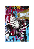 Zebrafitti Customized Giclee Print by Ben Allen